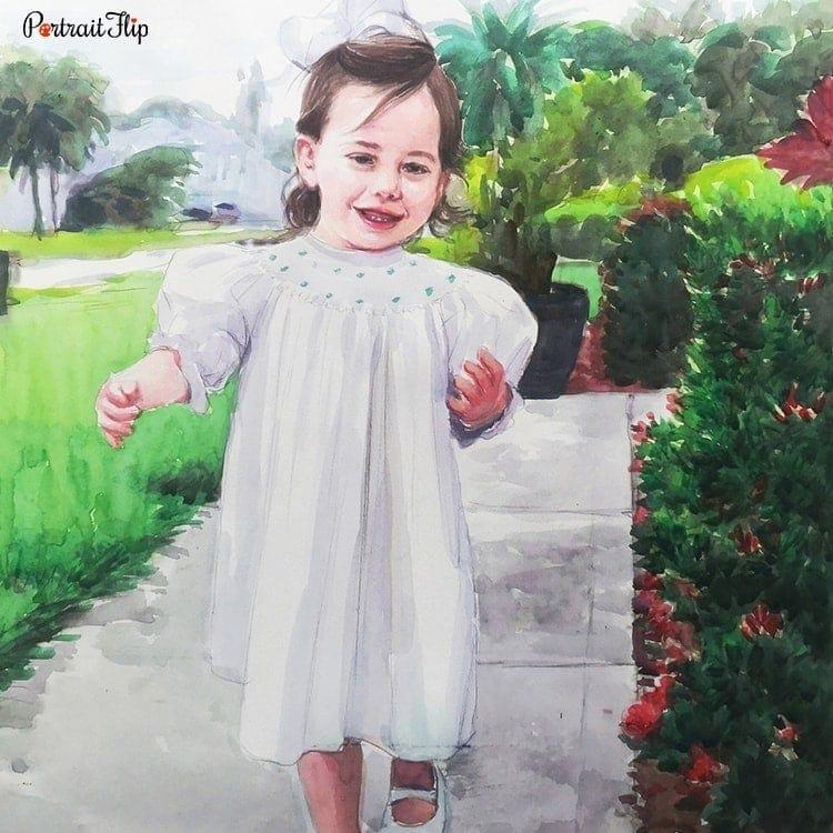 Baby Watercolor Portraits