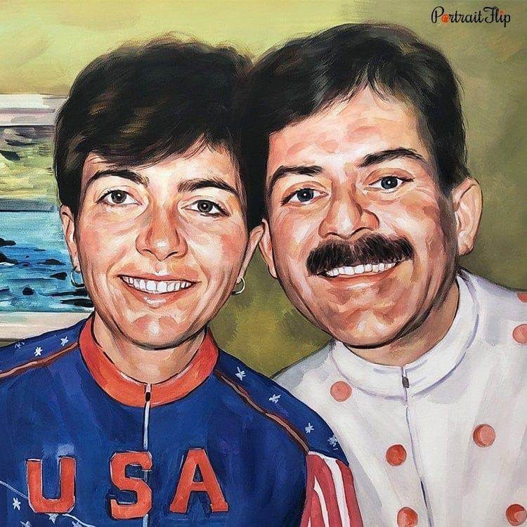 Couple Watercolor Portraits