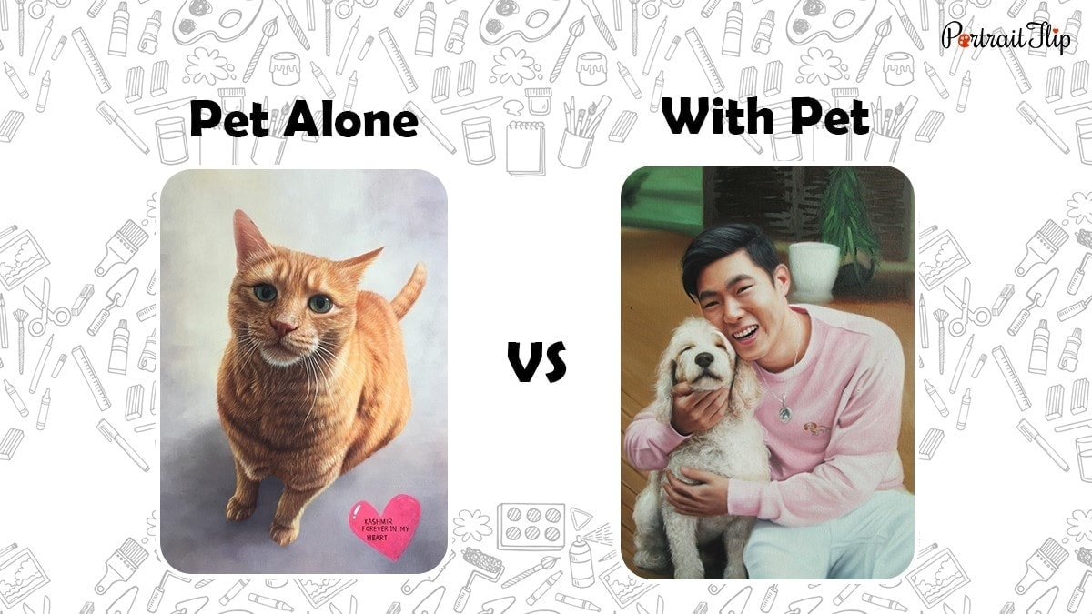 Alone pet vs with pet