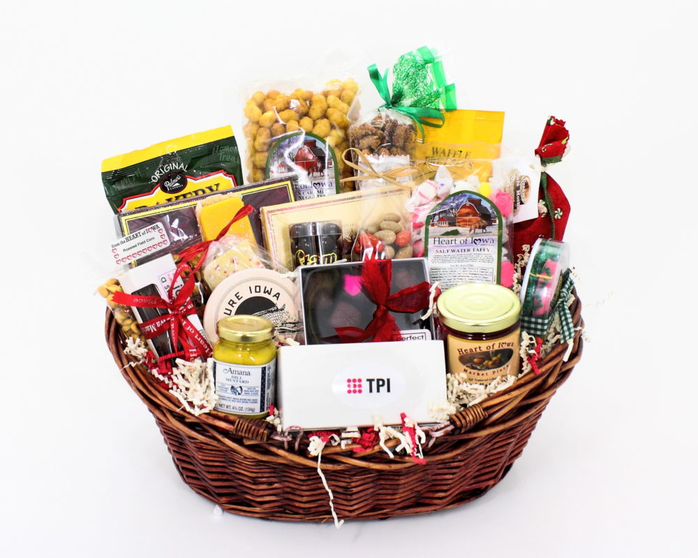 A custom gift basket.