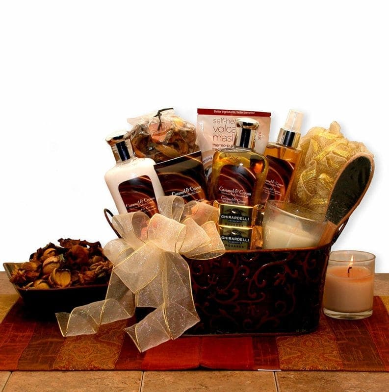 Vanilla bliss spa gift basket.