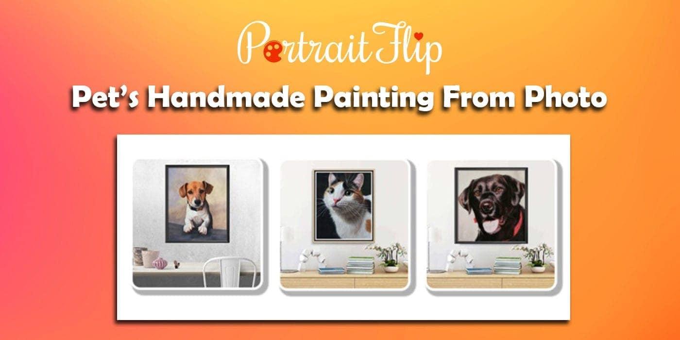 pet's handmade painting from photo