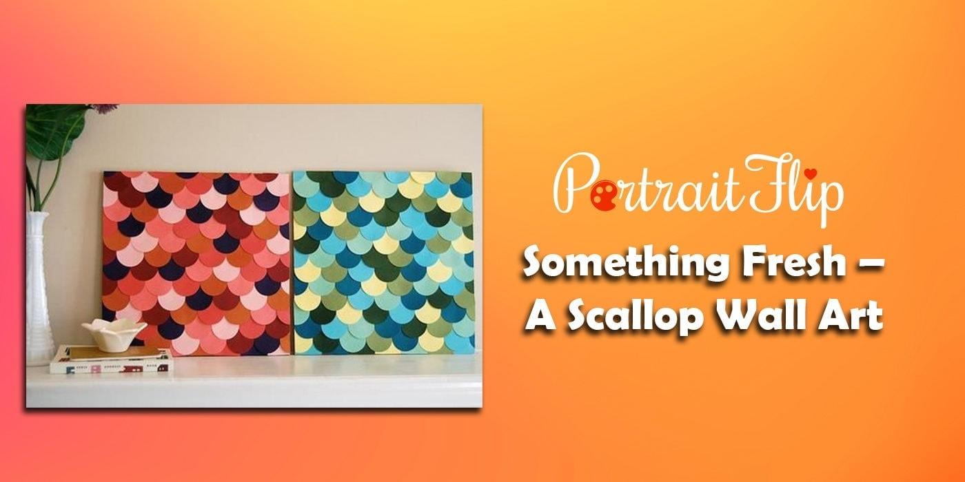 something fresh – a scallop wall art