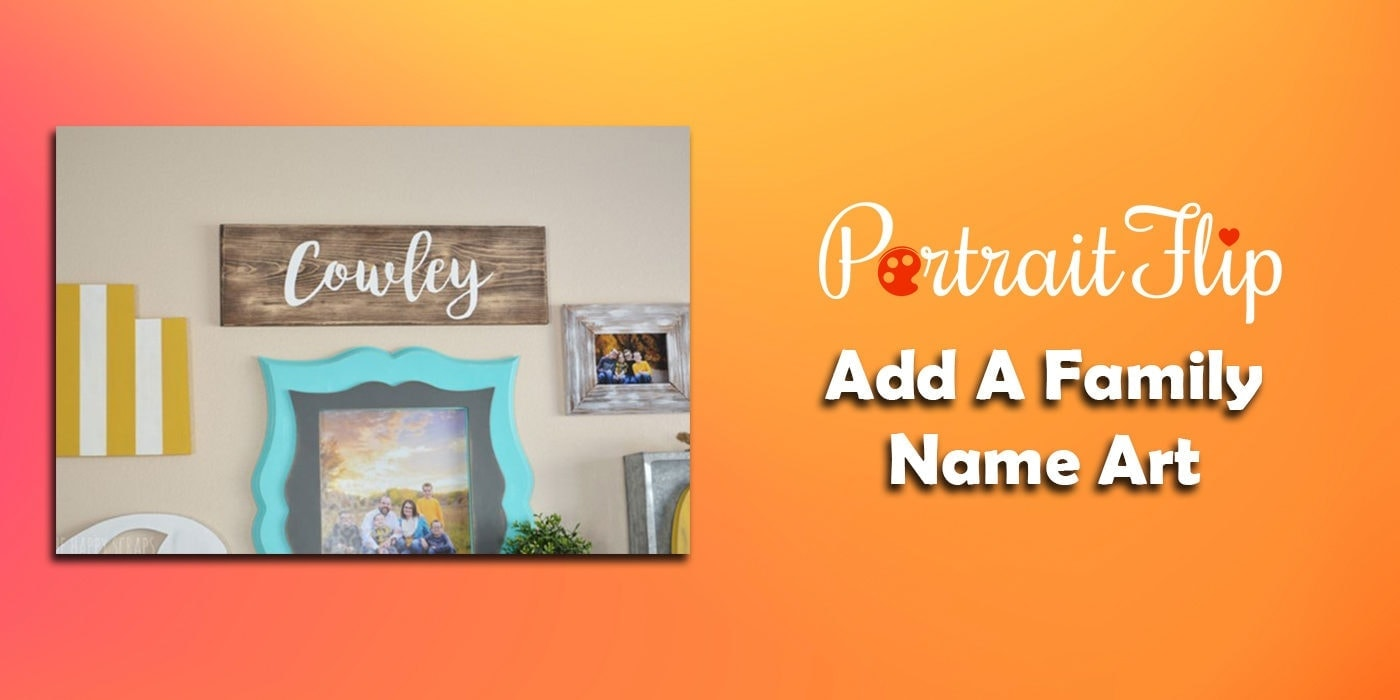 add a family name art