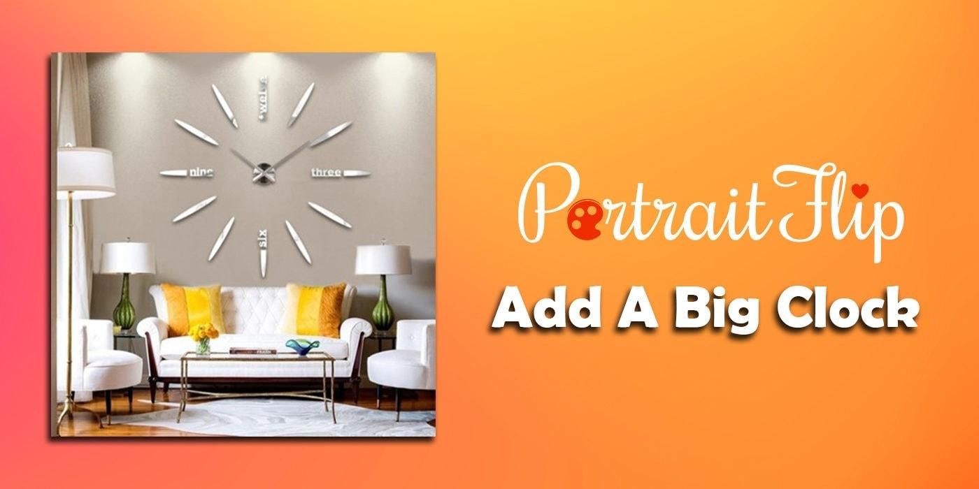 add a big clock