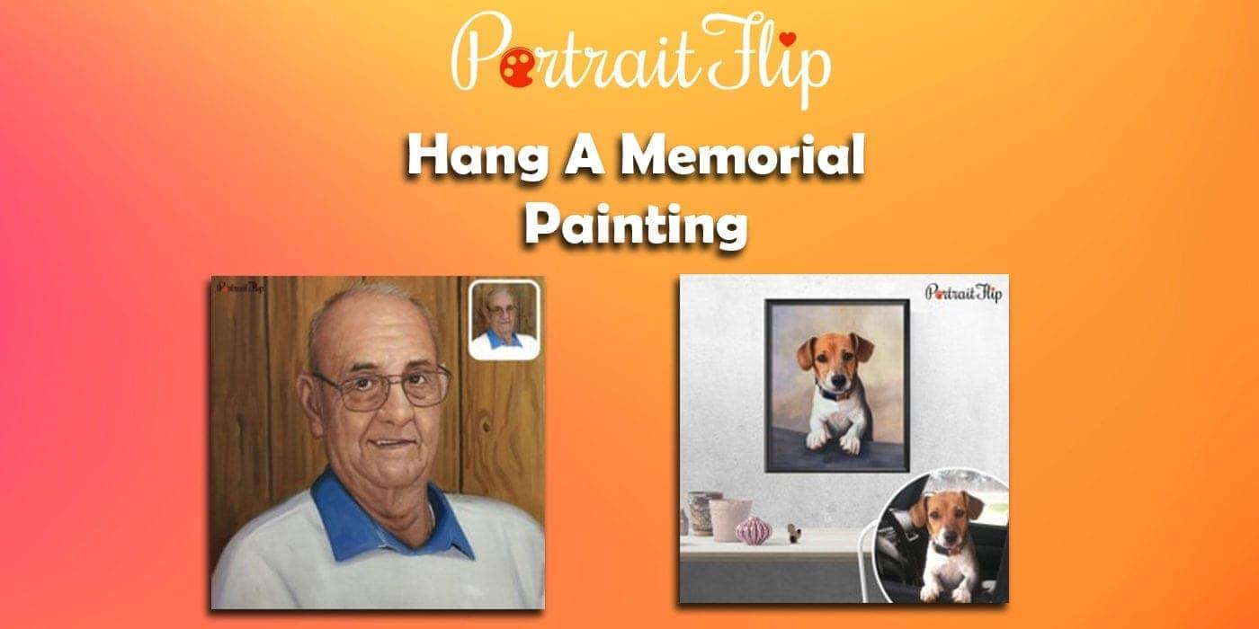 hang a memorial painting