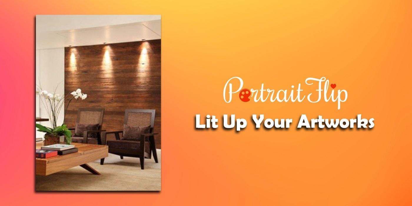 lit up your artworks