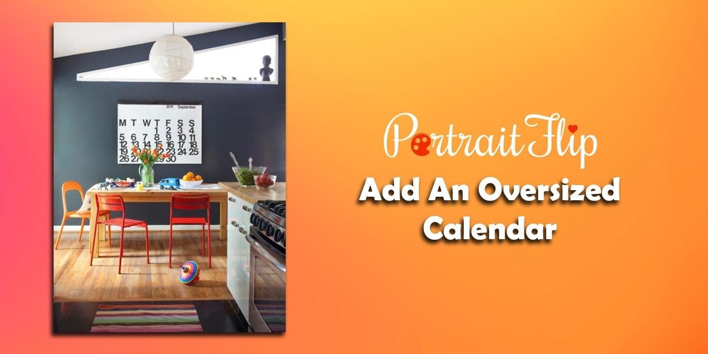 add an oversized calendar