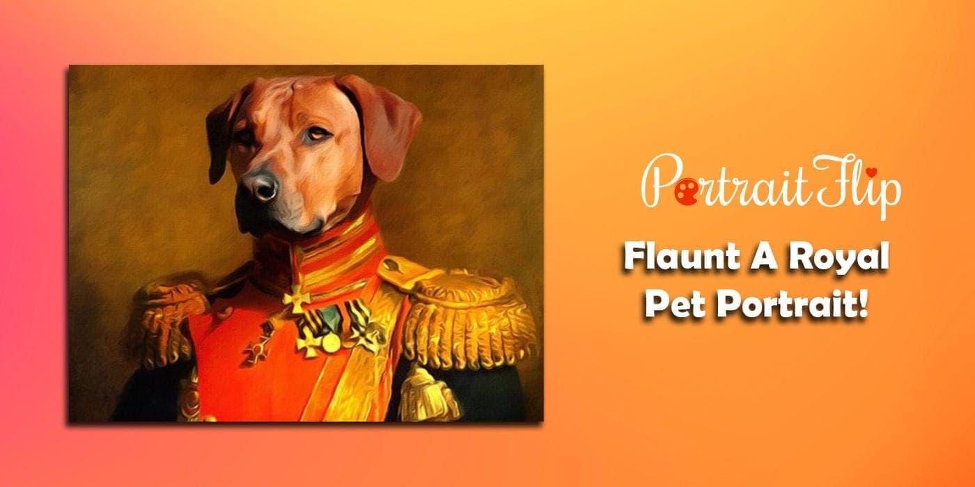 flaunt a royal pet portrait
