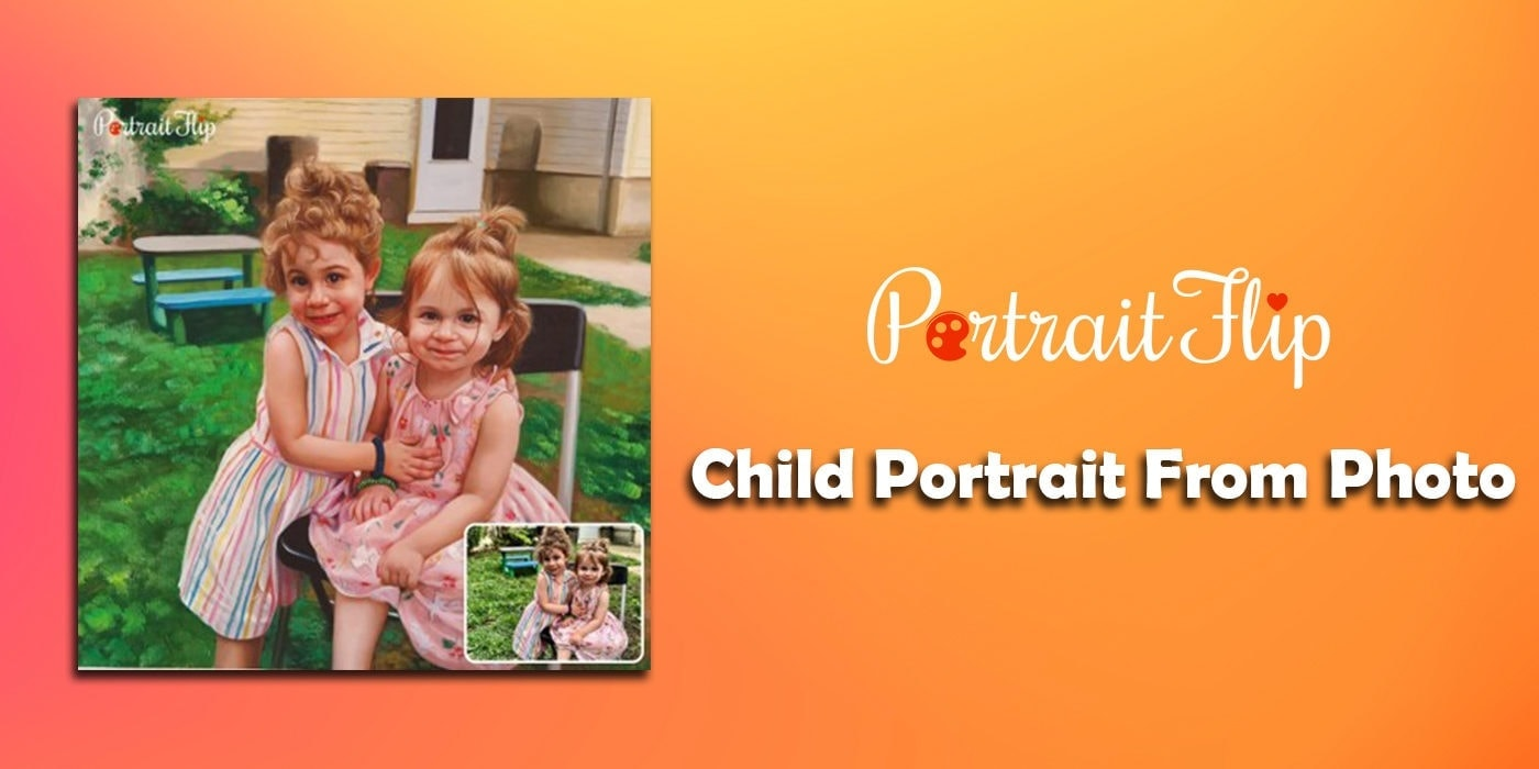 child portrait from photo
