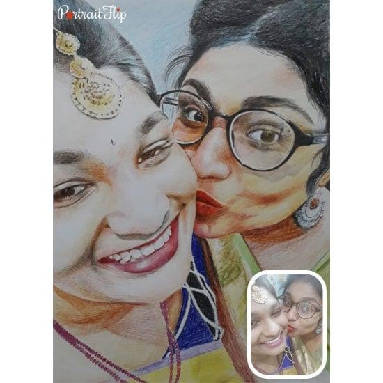 Handmade portrait of your mother