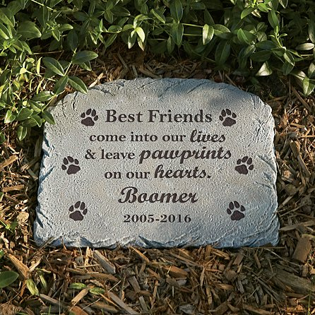 Pawprints in heaven memorial marker