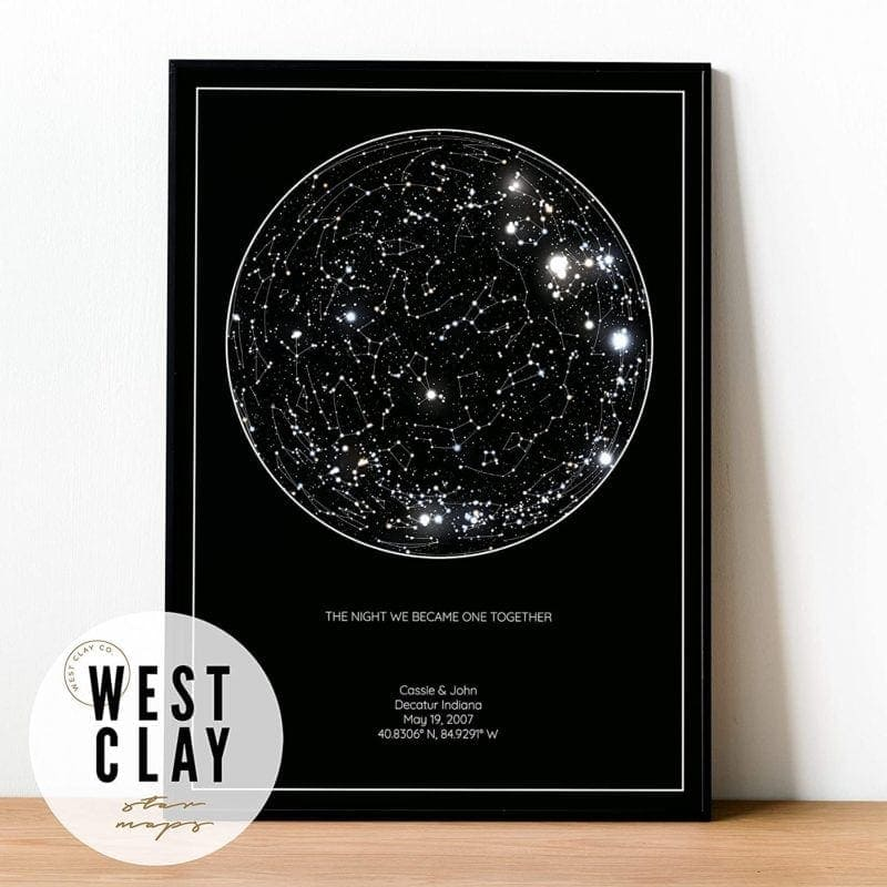Personalized star constellation map