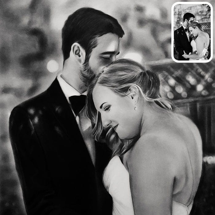 black and white couple painting