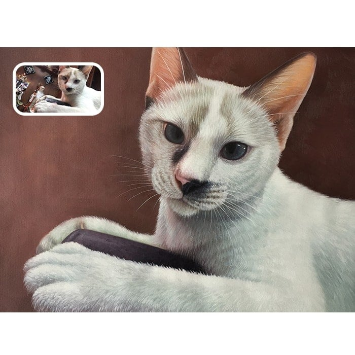 cat acrylic painting
