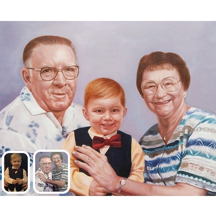 baby merged with grandparents