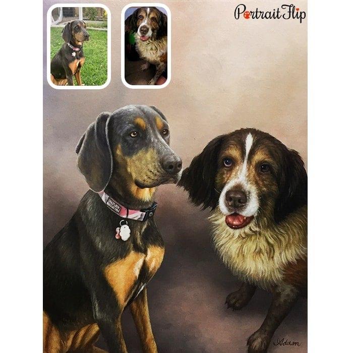 merged horse oil portrait