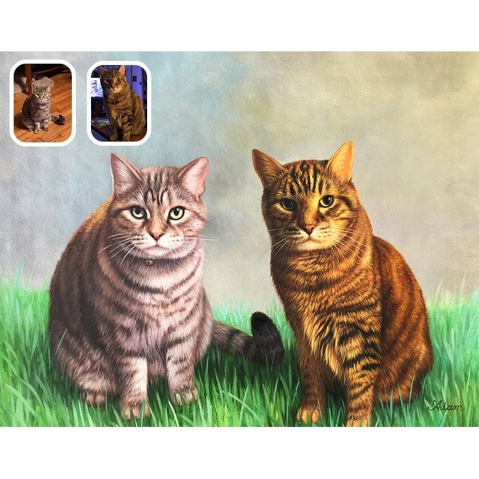 cat merge painting
