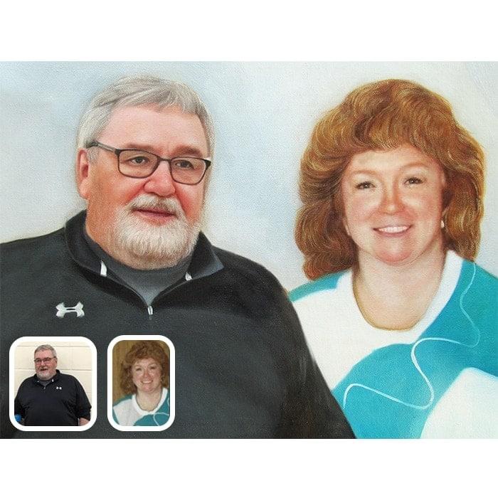 couple merge portraits
