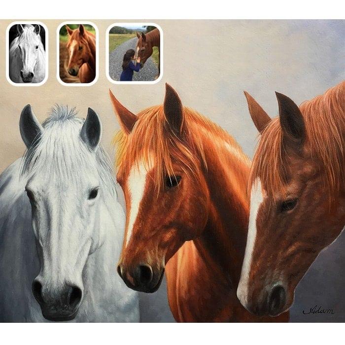 horse merge painting