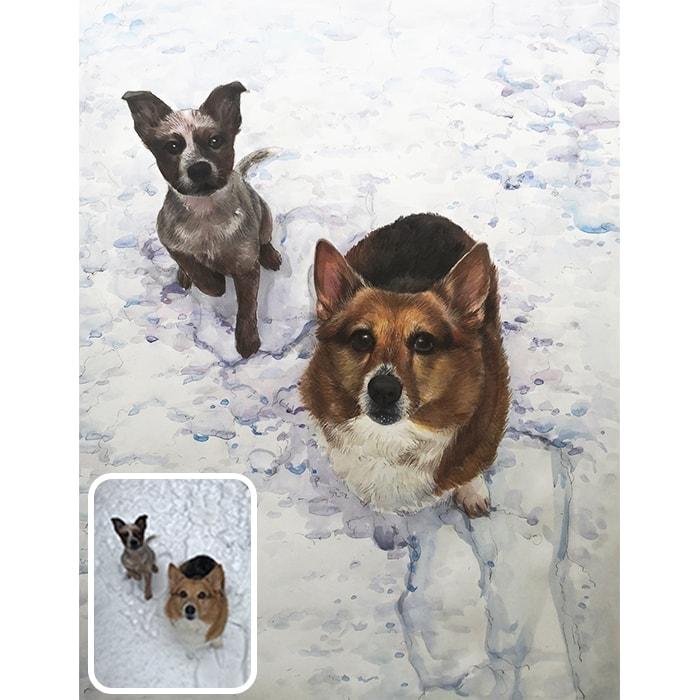 pet watercolor portrait