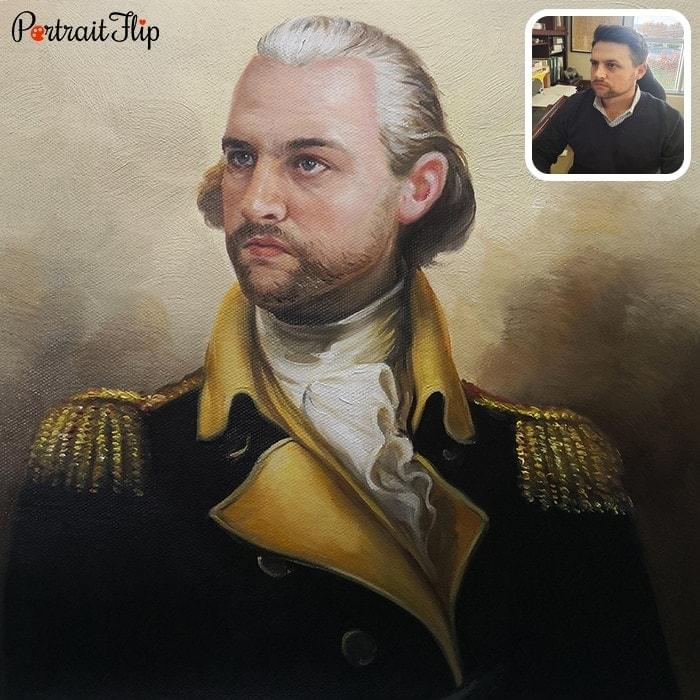 custom man royal portrait