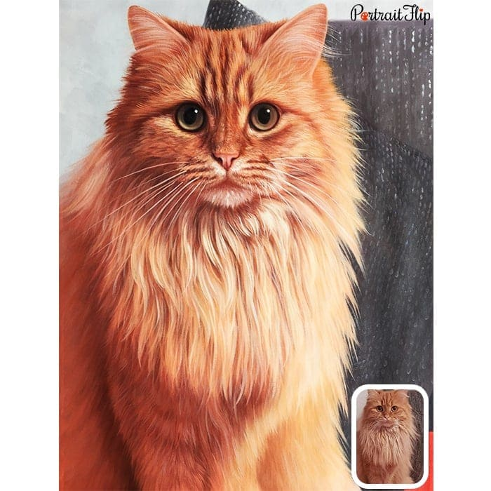 furry cat portrait painting