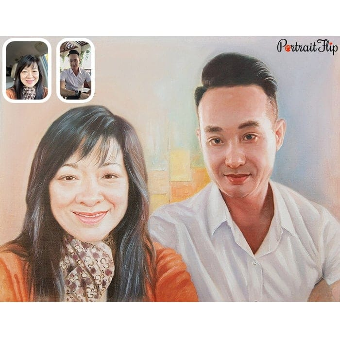 couple merge painting