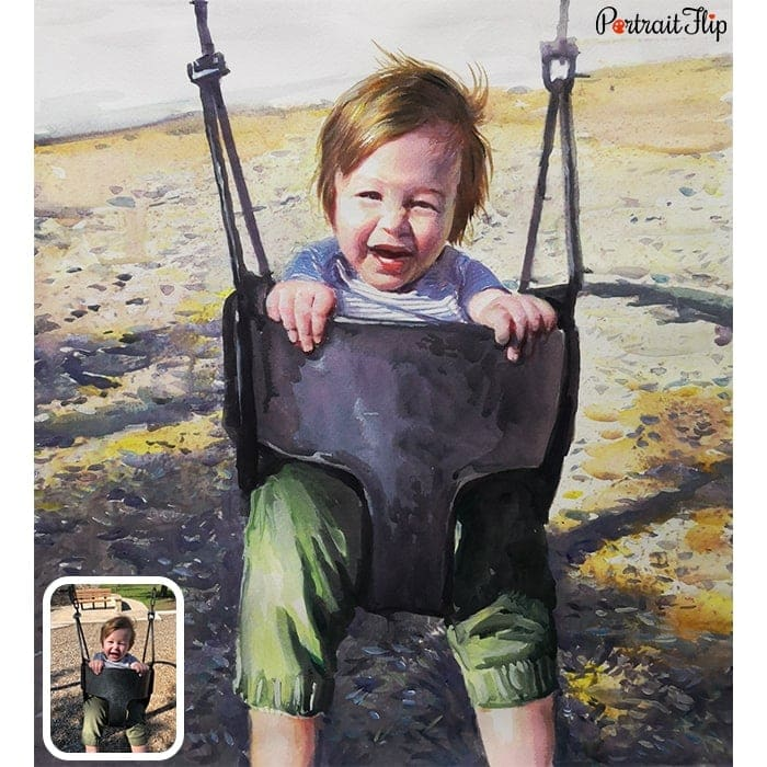 kid watercolor painting