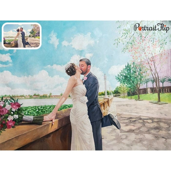 WEDDING OIL PORTRAITS