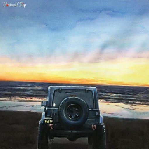Vehicle Watercolor Portraits