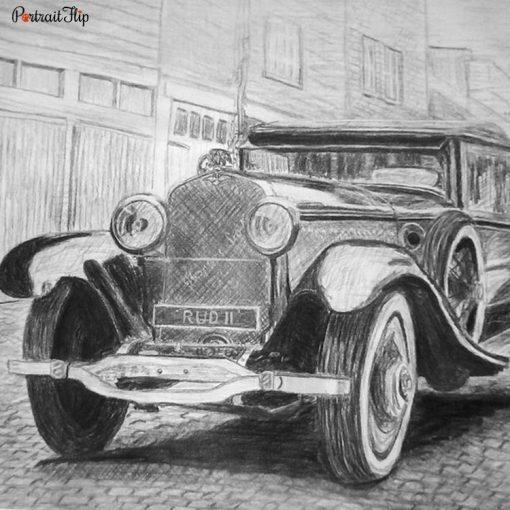 Vehicle Pencil Portraits