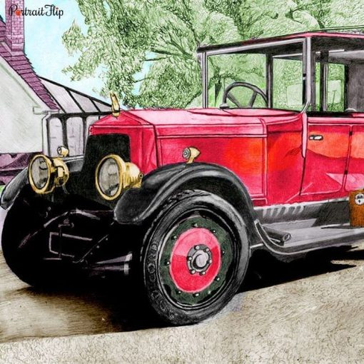 Vehicle Colored Pencil Portraits