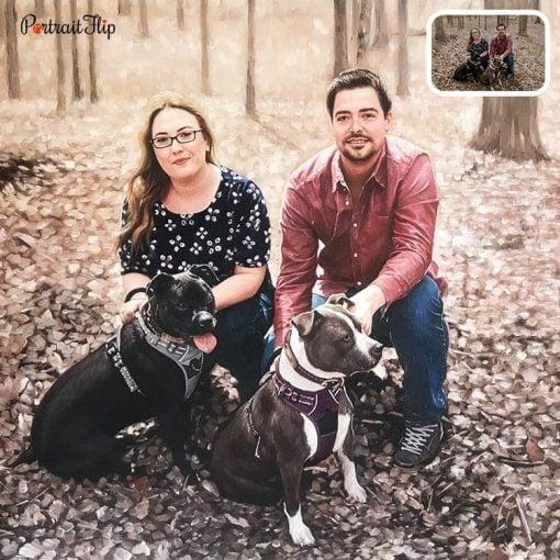 Handmade Acrylic Family Portrait