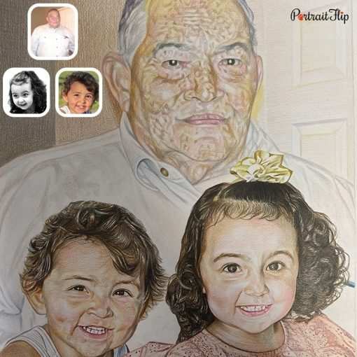 Handmade Human Colored Pencil Sketch