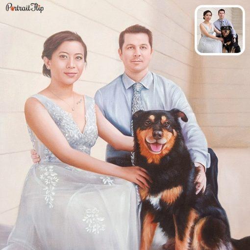 Handmade People & Pet Oil Portrait