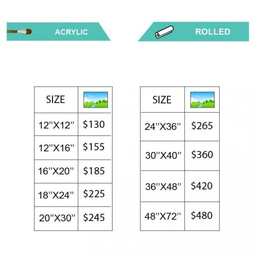 ACRYLIC Landscape pricing