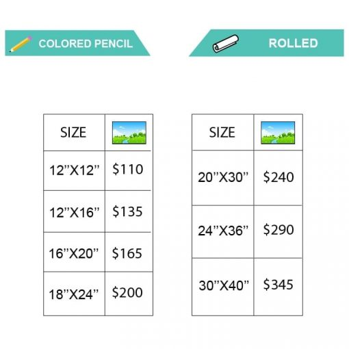 COLOREDPENCIL Landscape pricing