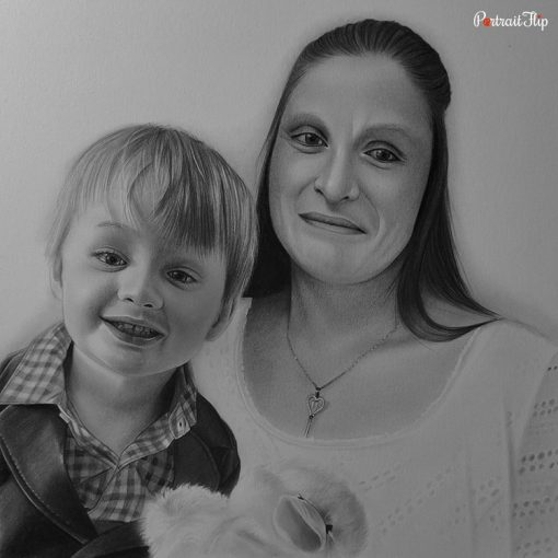 Parents & Children Pencil Portraits