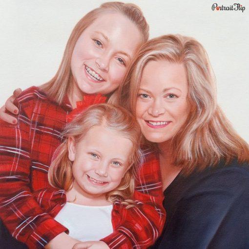 Parents & Children Acrylic Portraits