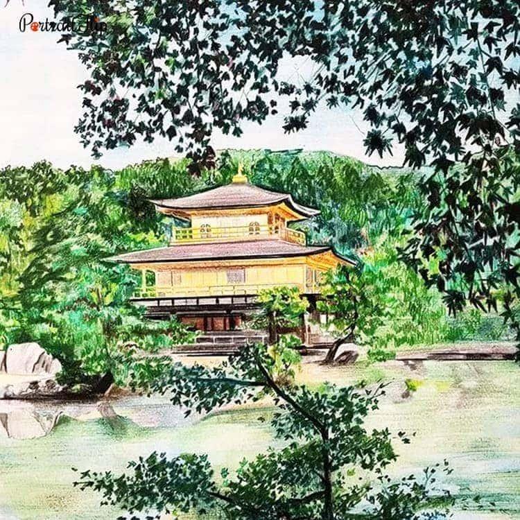 Landscape Colored Pencil Portraits
