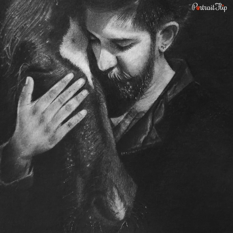 People & Pet Charcoal Portraits
