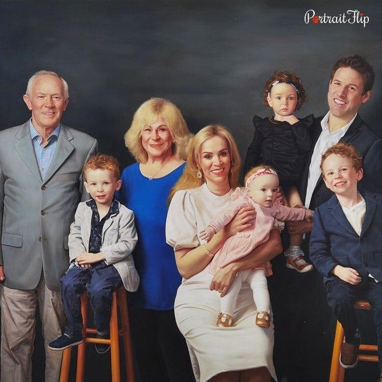 Family Oil Portraits