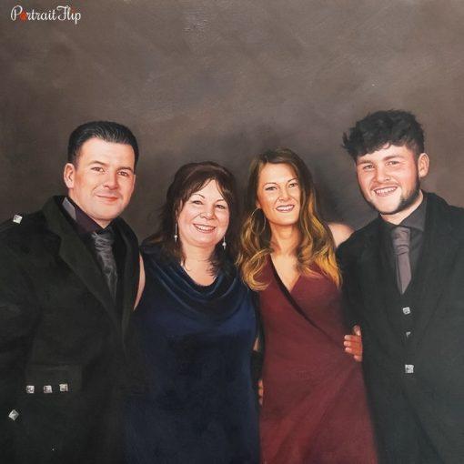 Family Acrylic Portraits