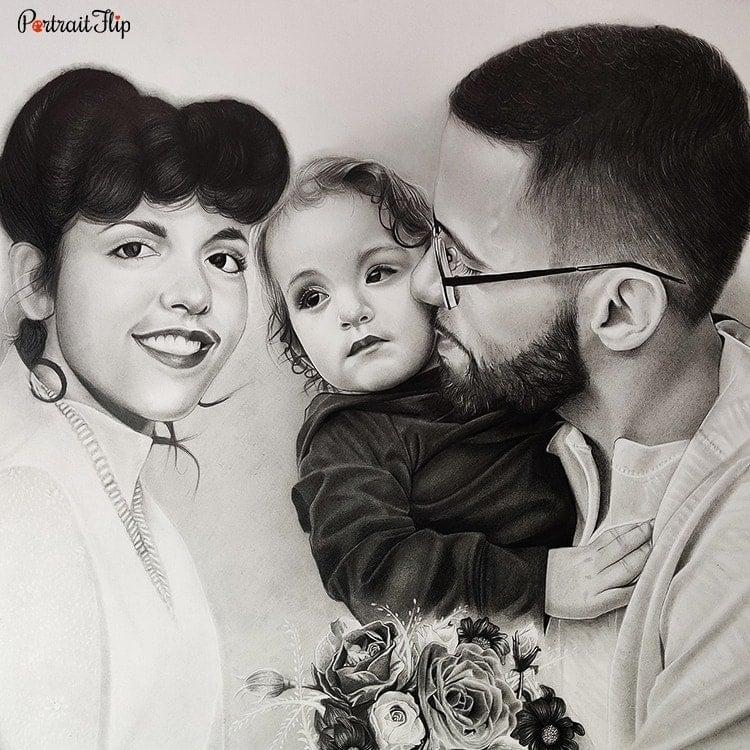 Family Charcoal Portraits