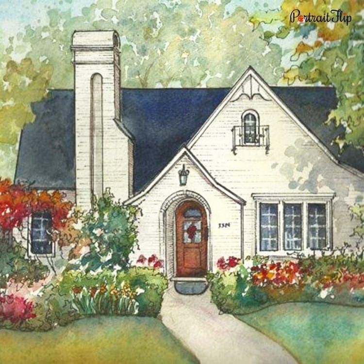 House Watercolor Portraits