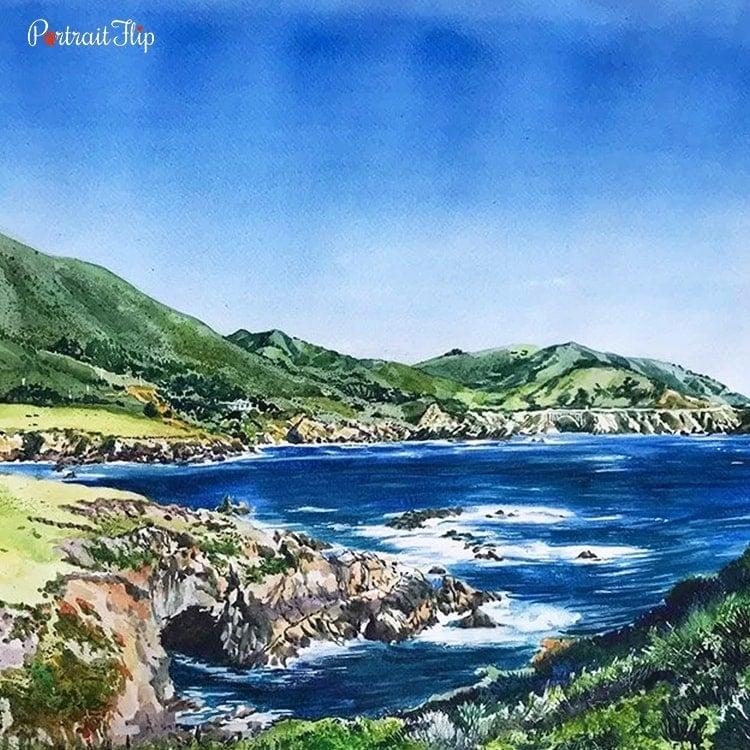 Landscape Watercolor Portraits