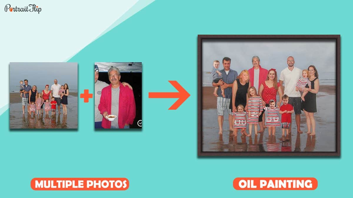A Family Oil Portrait from PortraitFlip