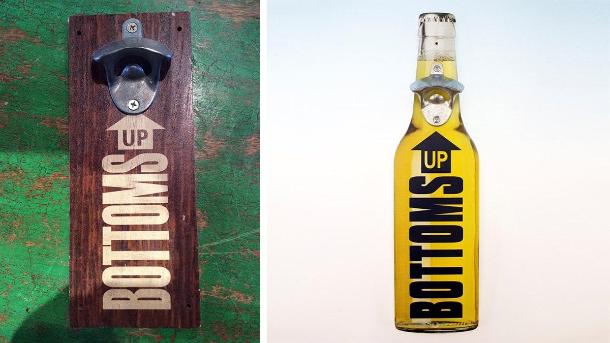Bottom's Up Bottle Opener