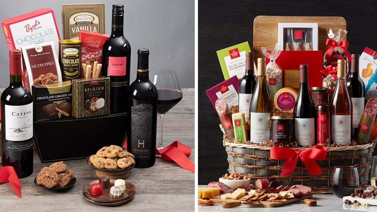 Classic Red Wine Thanksgivings Gifts Baskets